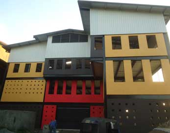 Two story extension to recycle unit